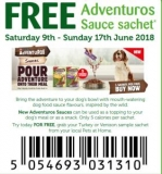 Free Dog Food Sample: Adventuros Dog Food Sauce – Collect from Pets At Home