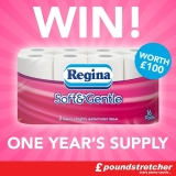 Win One Year's Supply Of Regina Soft & Gentle Toilet Paper (Twitter)