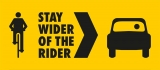 Stay Wider of the Rider – Free Stickers
