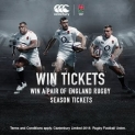 Win a pair of England Rugby Season Tickets