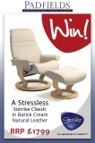 Win a Stressless Sunrise recliner chair and footstool