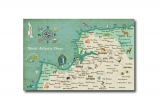 Win a personalised wedding map illustration, South West England