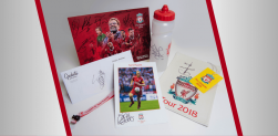 Win a squad signed poster, Keita signed headrest, Van Dijk signed bottle and MORE