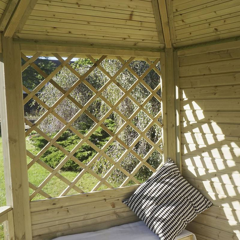 Win a wooden gazebo
