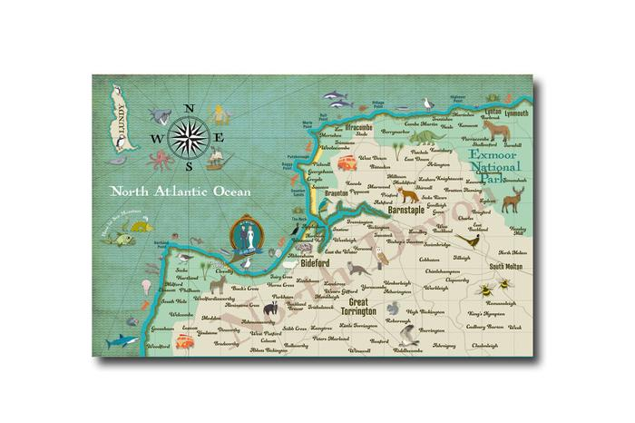 Big Map Of England.Win A Personalised Wedding Map Illustration South West England Uk