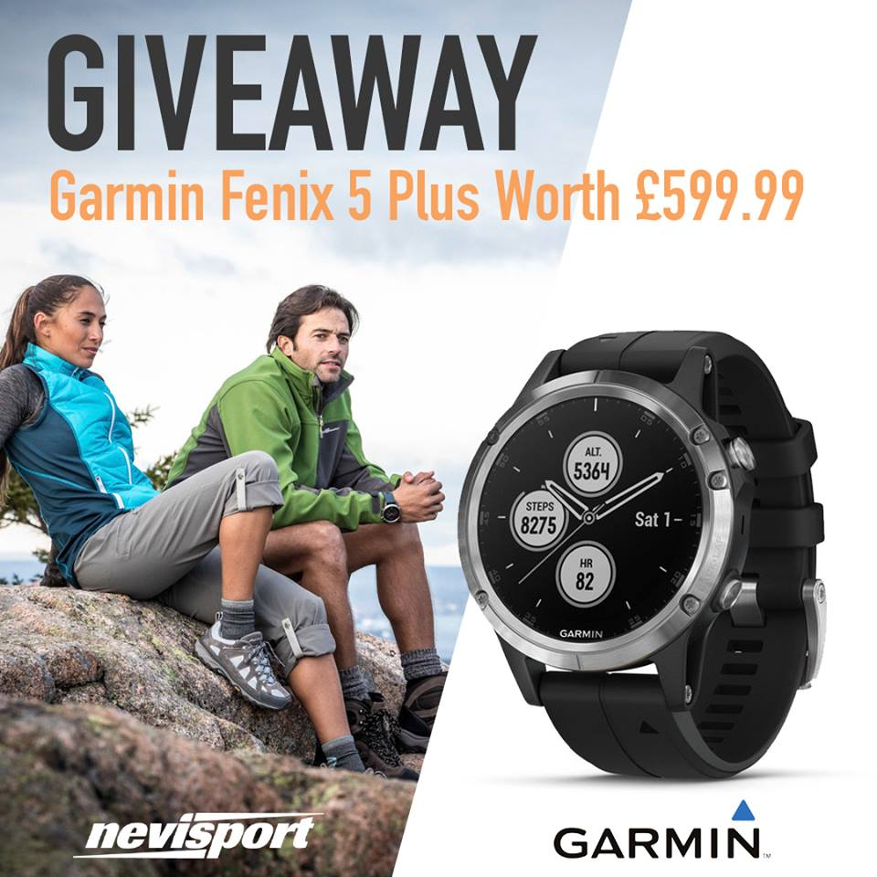 Win a Garmin Fenix 5 Plus smart watch - UK Competition and