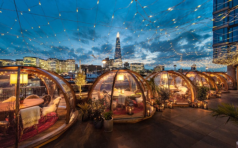 Win Dinner For 4 At The Coppa Club Igloos London Uk