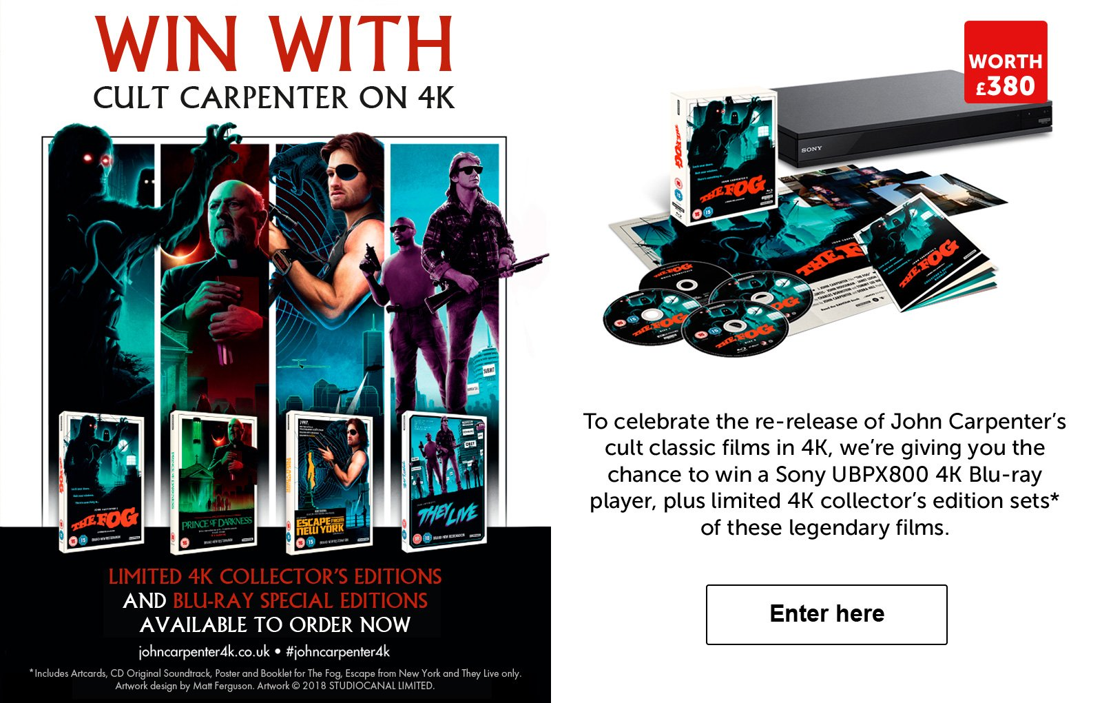 Win John Carpenter Films
