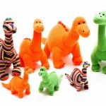 Win knitted dinosaurs
