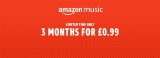 Limited time only: 3 months of Amazon Music Unlimited for £0.99