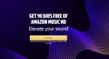 Amazon Music HD – Launch offer : 90 Days FREE