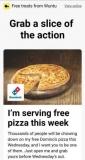 Wuntu Three Customers: Free Domino's Pizza on Wednesday 2nd May 2018