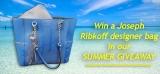 Win a Joseph Ribkoff sapphire blue bag