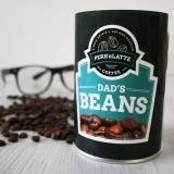 Win Perkulatte Dad's Beans Coffee Tin & Whiskey Sugar Spoons
