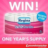 Win One Year's Supply Of Regina Soft & Gentle Toilet Paper (Twitter)