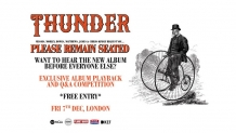 Win tickets to a Thunder album playback and Q&A
