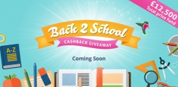 TopCashBack Back 2 School Competition: £12,500 prize fund – Live!