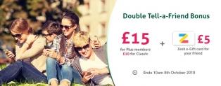 Topcashbak double Tell-a-Friend bonus, plus a £5 Zeek egift card for your friend
