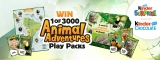 Win 1 of 3000 Animal Adventure Play Packs for your child