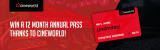 Win a 12 month annual Cineworld pass