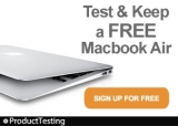 Test & Keep A MacBook Air Worth £749!