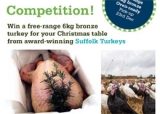 Win a Suffolk Turkey for your Christmas table