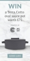 Win a Terra.Cotto oval saucepot