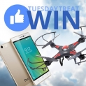 Win X-Cam drone and Nuu mobile Phone M2
