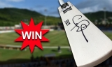 in A Cricket Mini Bat Signed By Chris Gayle
