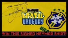 Win a signed Neymar Brazil shirt
