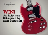 Win an Epiphone SG guitar signed by Rich Robinson