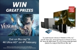 Win a Sony Smart TV, Home Entertainment system and Venom on blu-ray