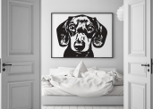win a stylish pet portrait & personalised dog bowl