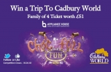 Win a Family Ticket for four to Cadbury World